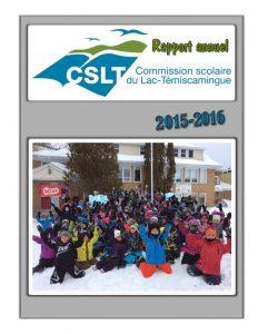 Page titre rapport annuel 2015-2016