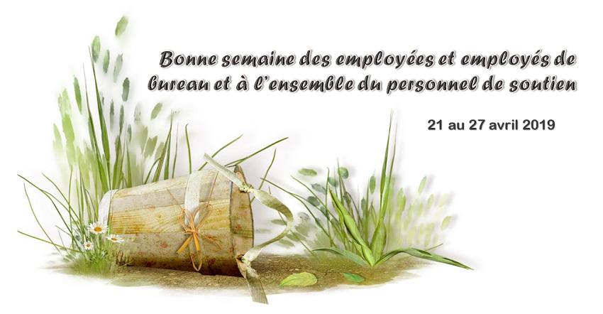 Bonne semaine des employées et employés de soutien